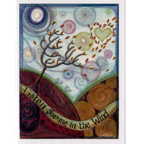 PAGAN WICCAN GREETING CARD Listen for Me BIRTHDAY GODDESS JAINE ROSE