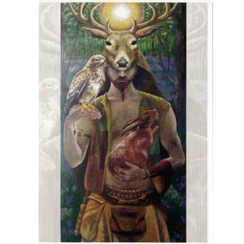 PAGAN WICCAN GREETING CARD Lord of the Wildwood WENDY ANDREW Birthday CELTIC GODDESS