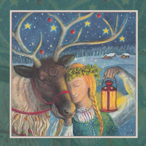 YULE XMAS GREETING CARD Magic Moment PAGAN SOLSTICE WENDY ANDREW