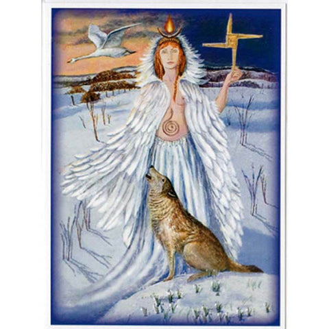 PAGAN WICCAN GREETING CARD Maiden Goddess WENDY ANDREW Birthday GODDESS
