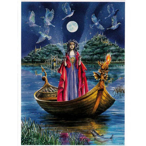 PAGAN WICCAN GREETING CARD Morgan La Fey WENDY ANDREW Birthday CELTIC GODDESS