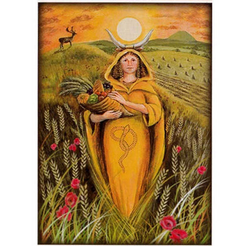 PAGAN WICCAN GREETING CARD Mother Goddess WENDY ANDREW Birthday GODDESS