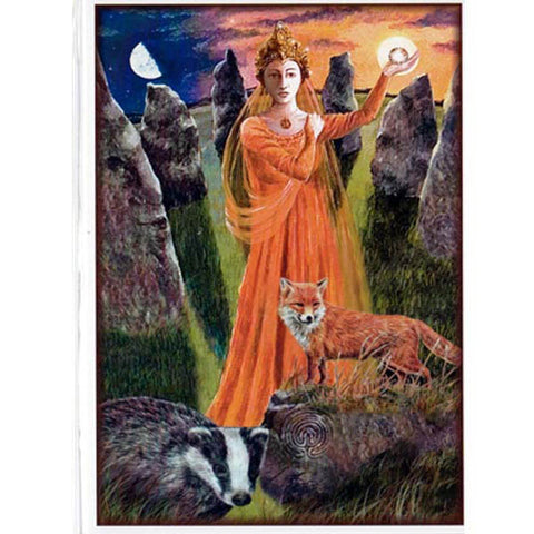 PAGAN WICCAN GREETING CARD Mother of Earth WENDY ANDREW Birthday GODDESS