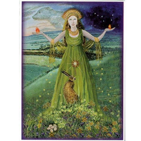 PAGAN WICCAN GREETING CARD Mother of Fire WENDY ANDREW Birthday GODDESS