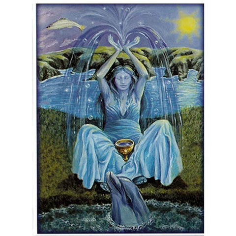 PAGAN WICCAN GREETING CARD Mother of Water WENDY ANDREW Birthday GODDESS