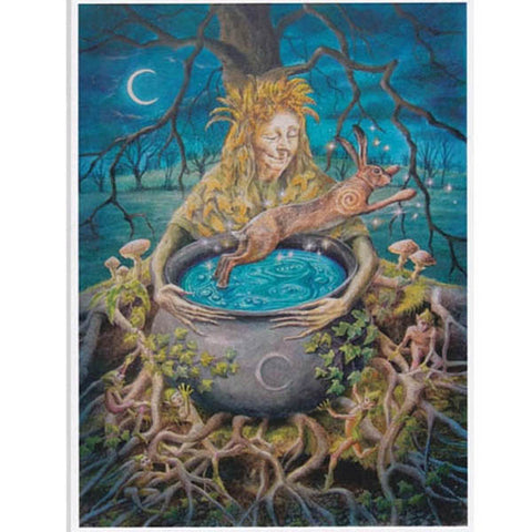 PAGAN WICCAN GREETING CARD Re-Birth WENDY ANDREW Birthday CRONE CELTIC GODDESS