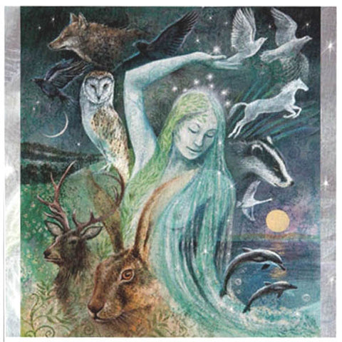 PAGAN WICCAN GREETING CARD Sacred Creatures WENDY ANDREW GODDESS
