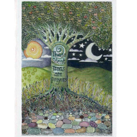 PAGAN WICCAN GREETING CARD Silent Trees BIRTHDAY GODDESS JAINE ROSE