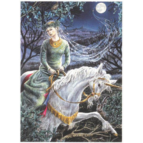 PAGAN WICCAN GREETING CARD The Green Lady WENDY ANDREW Birthday CELTIC GODDESS