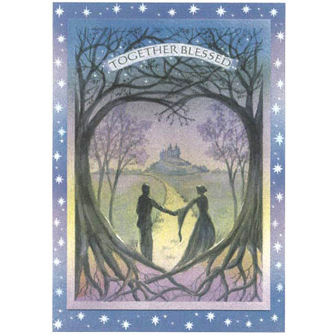 PAGAN WICCAN GREETING CARD Together Blessed WENDY ANDREW CELTIC GODDESS