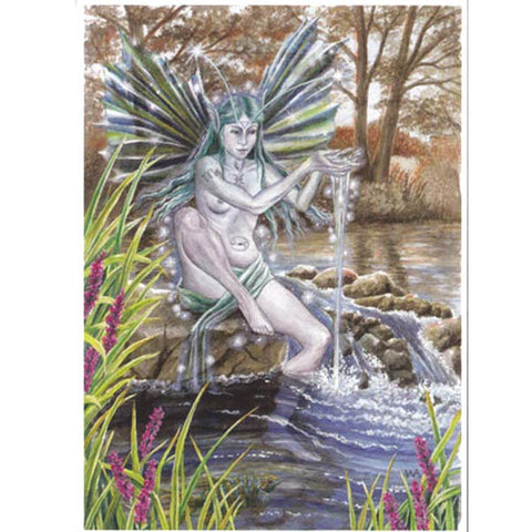 PAGAN WICCAN GREETING CARD Water Spirit WENDY ANDREW Birthday GODDESS