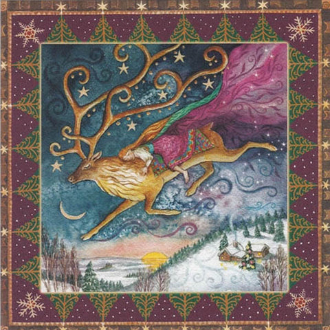 YULE XMAS GREETING CARD Dawn Dreaming PAGAN SOLSTICE WENDY ANDREW