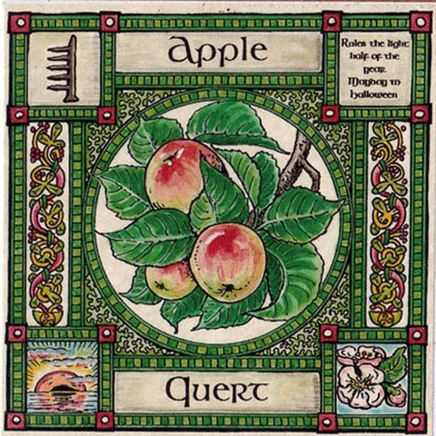 APPLE TREE GREETING CARD May Day - Halloween CELTIC PAGAN Ogham HEDINGHAM FAIR