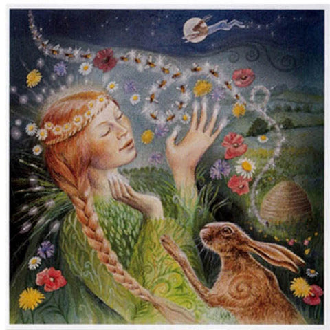 PAGAN WICCAN GREETING CARD Be Blessed WENDY ANDREW Bee GODDESS
