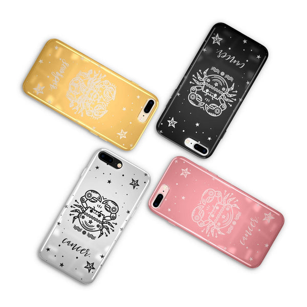Chrome Shiny iPhone Case Cover - Cancer