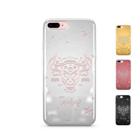 Chrome Shiny iPhone Case Cover - Taurus