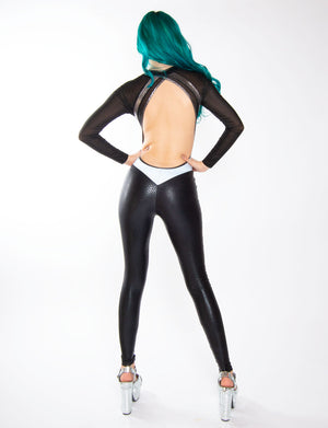 LONG SLEEVE BACKLESS SIREN CATSUIT