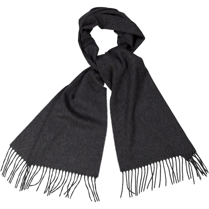 CHARCOAL SCARF IN CASHMERE