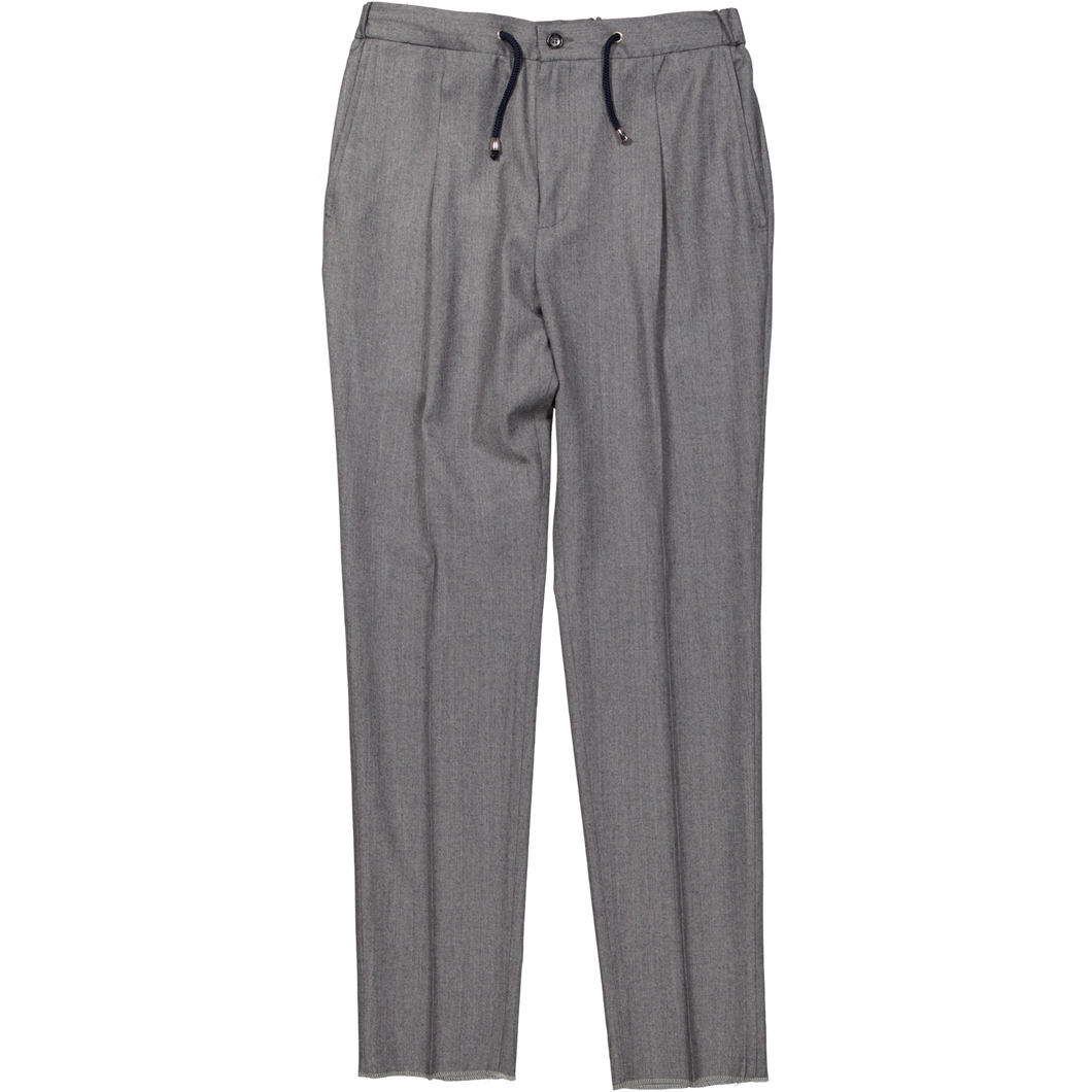 GREY DRAWSTRING TROUSERS