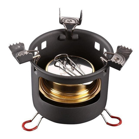 Compact Mini Spirit Burner Stove with Stand