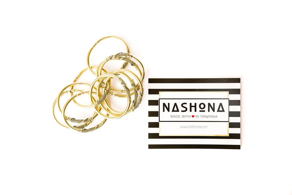 Brass Bracelet Bangle - NASHONA (Kenya)