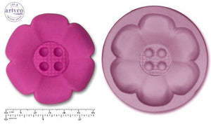Button Jumbo; Flower Silicone Mold