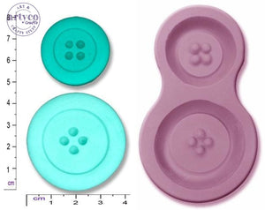 Buttons X 2; Large Silicone Mold