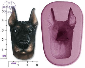 Dog Head; Doberman Silicone Mold