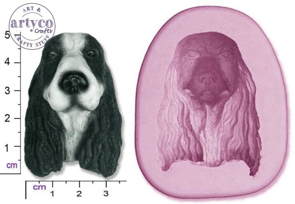 Dog Head; Springer Spaniel Silicone Mold