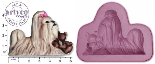 Dog; Lhasa Apso Silicone Mold