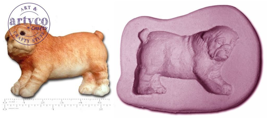 Dog; Sharpei Puppy Silicone Mold