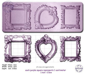 Frames; Ornate Single Silicone Mold