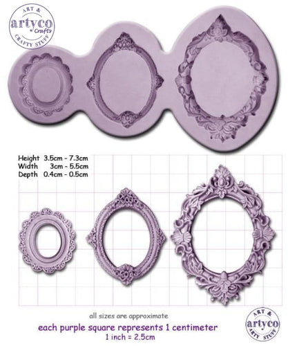 Frames; Oval Silicone Mold