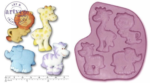 Nursery Animals Single Silicone Mold
