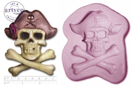 Pirate Jolly Roger; Large Silicone Mold