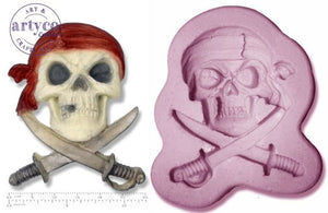 Pirate Skull & Swords Silicone Mold
