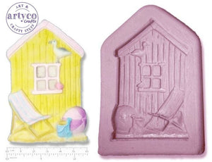 Seaside Beach Hut; Large Silicone Mold