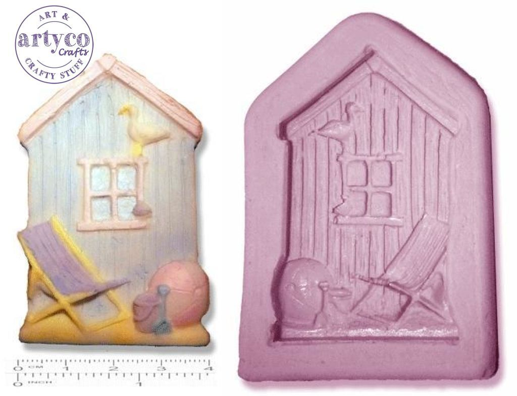 Seaside Beach Hut; Small Silicone Mold