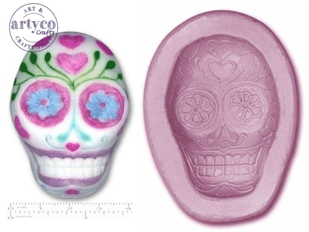 Skull; Day Of The Dead Single Silicone Mold