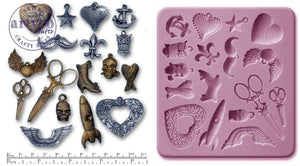 Steam Punk Charms Silicone Mold