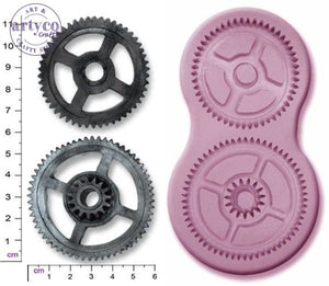 Steam Punk Cogs X 2 Large Silicone Mold