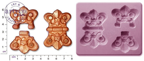 Steam Punk Hinges; Large Silicone Mold