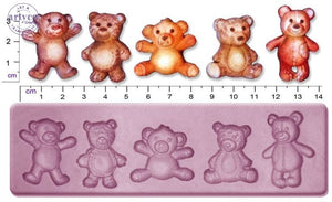 Teddy Bears; Medium Single Silicone Mold