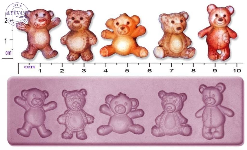 Teddy Bears; Small Silicone Mold