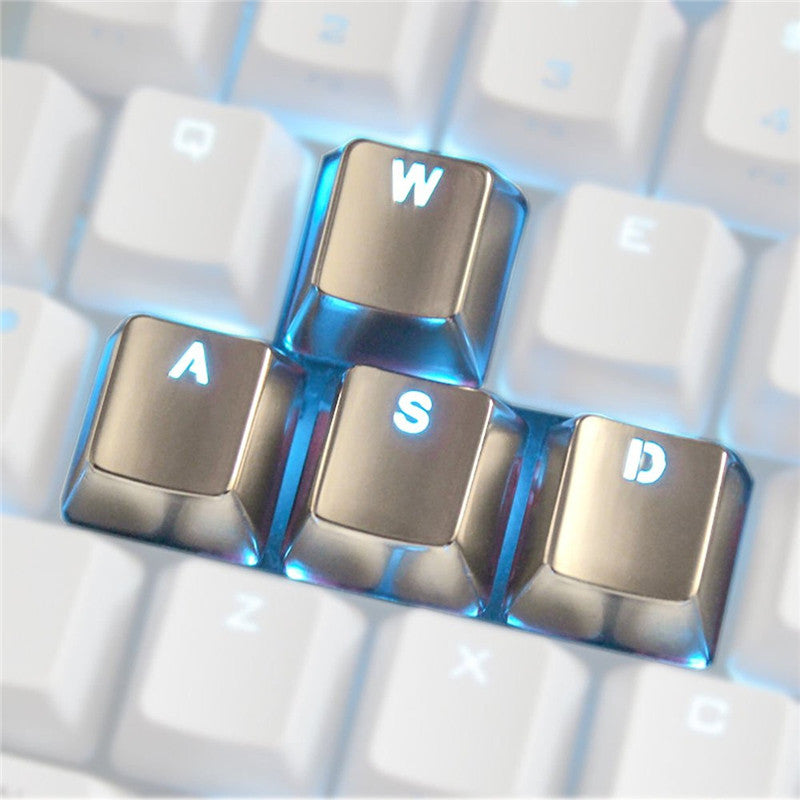 4pcs Zinc Alloy Keycaps Switch Light Transmission for Mechanical Keyboard