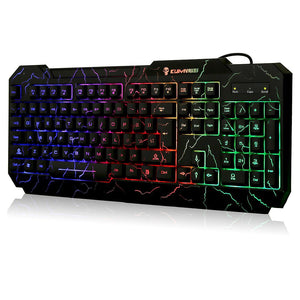 Crack Rainbow LED Illuminated Gaming Keyboard