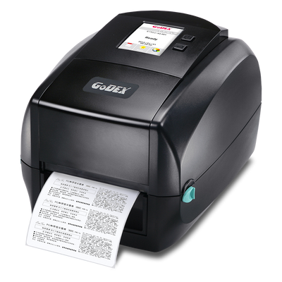 "discountlabels,GODEX RT863i - THERMAL TRANSFER PRINTER - 011-863007-000 - 4"" - 600 DPI - COLOR DISPLAY - USB(H/D), RS232, ETHERNET, BT COMPATIBLE - INCLUDING: INCLUANT: 10/100 ETHERNET, USB AND WINDOWS SOFTWARE"