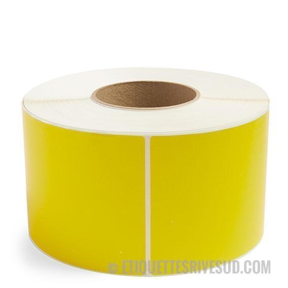"discountlabels,4"" X 6"" THERMAL TRANSFER LABELS - YELLOW - SINGLE ROLL"