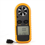 AYHF-Handheld Digital LCD Wind Speed Meter Thermometer Anemometer for Surf Sailing