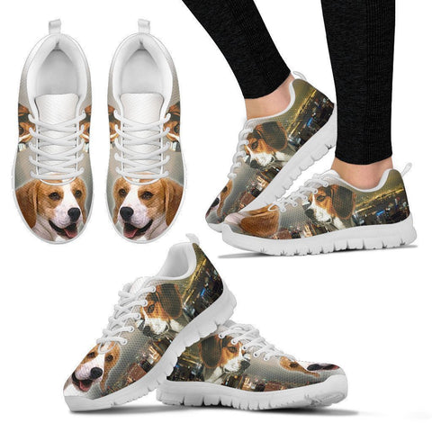 Beagle Dog 3D Print Running Shoes For Women- Free Shipping-Paww-Printz-Merchandise